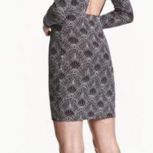 H&M glittery skirt art deco